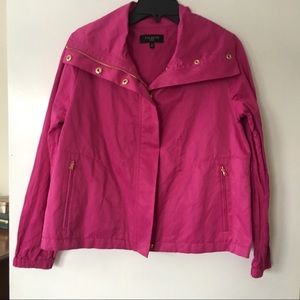 Talbots Pink Fuschia Windbreaker
